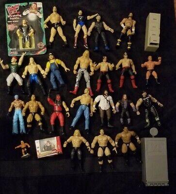 Wrestling Action Figure Lot #1 WWF WCW WWE ECW jakks hasbro mattel toy bundle