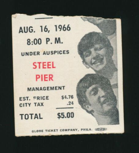 THE BEATLES / 1966 TICKET STUB / JFK STADIUM / PERRY COX COA