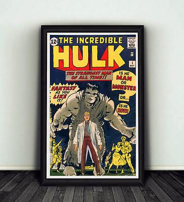 11x17 Incredible Hulk #1 Comic Book Cover Replica Poster Print Marvel Avengers