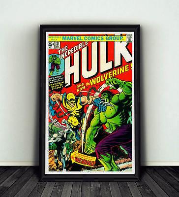11x17 Incredible Hulk #181 Comic Book Cover Replica Poster Marvel Wolverine - Incredible Hulk Comic Book Cover