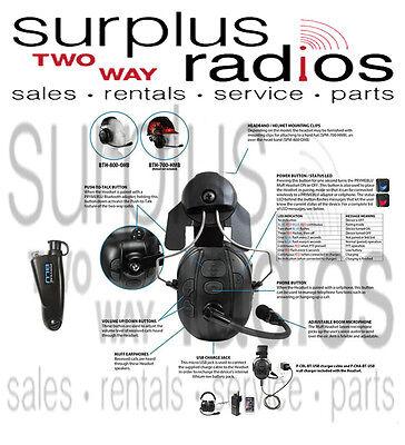 Pryme Bluetooth Construction Hard Hat Headset Motorola Ht750 Ht1250 Ht1250ls
