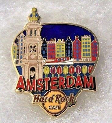 HARD ROCK CAFE AMSTERDAM GREETINGS FROM GUITAR PICK SERIES PIN # 95923