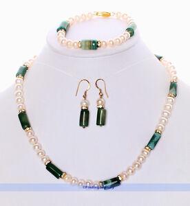 Green-Agate-White-Pearl-Necklace-Earrings-Bracelet-Set