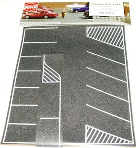 CAR PARK PARKING LOT Asphalt self adhesive 20cmx16cm + HO 1/87 scale BUSCH 9713