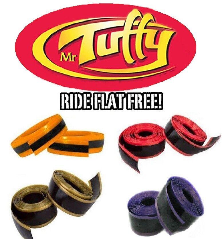 "Mr Tuffy Pair Bike Tire Liner Protection 700c 27"" 29"" Orange"