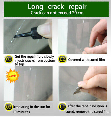 Premium DIY Windscreen Crack Repair Kit Car Chip Windshield Glass Window Tool