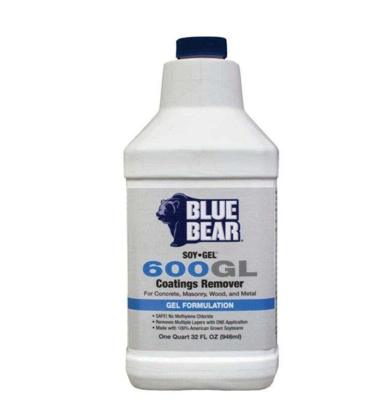 Blue Bear 600GL Soy Gel Coatings Remover 1qt- Concrete, Masonry, Wood & Metal