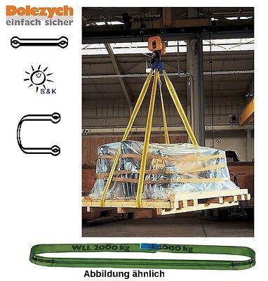 DOLEZYCH Rundschlinge DIN EN 1492-2 Nutzlänge 1,5 m grün Tragf. einf. 2000 kg