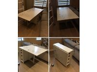 Folding dinning table, table foldable