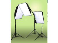 3 point interview lighting softbox kit from Smick with 5500k bulbs
