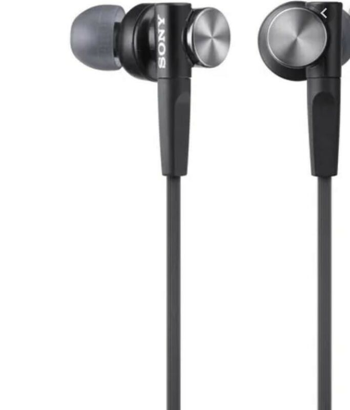 Sony Earbud Headphones Black MDRXB50AP/B