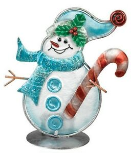 Snowman-Tea-Light-Candle-Holder-Metal-and-Glass