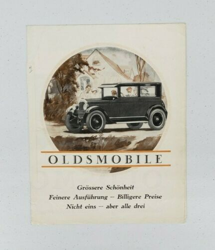 1926 Oldsmobile Sales Folder (German)