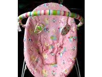 baby girls pink bouncer *immaculate condition**