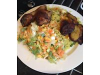 Freshly cooked Nigerian food and snacks available for pickup and delivery