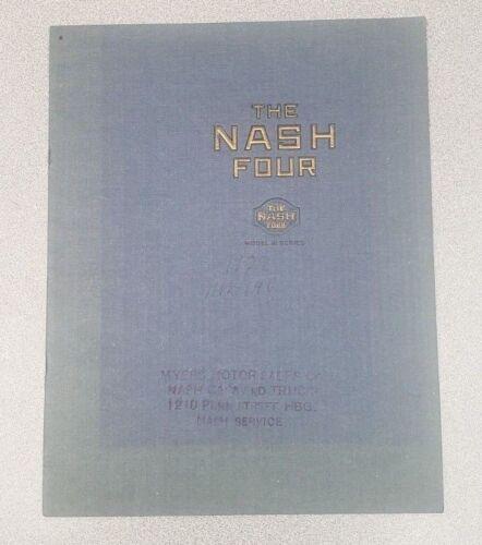 1922 Nash Four Sales Catalog, Series 41