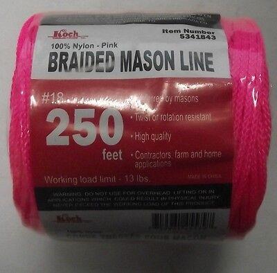 Koch Industries 5341843 Braided Mason Line 18 By 250 Feet