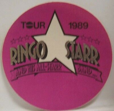 THE BEATLES / RINGO STARR - ORIGINAL CONCERT TOUR CLOTH BACKSTAGE PASS