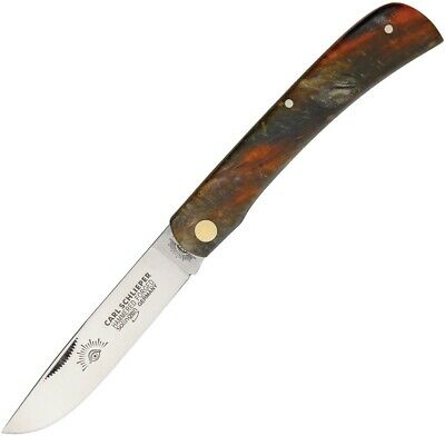 "GERMAN EYE BRAND CUTLERY KNIFE- #GE99BR CLODBUSTER BROWN HANDLE - 4 3/4"" CLOSED"
