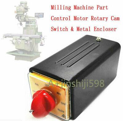 Bridgeport Milling Machine Part Control Motor Rotary Cam Switch Metal Encloser