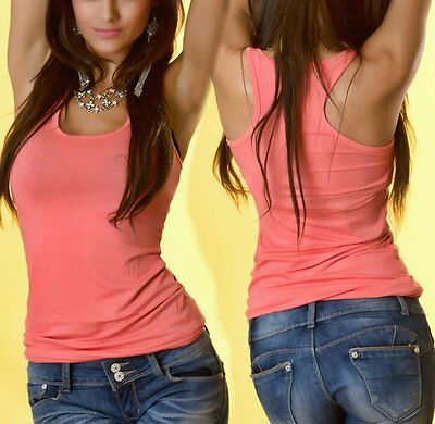 Sexy Miss Ladies Girly Ringer Tank Top Long Tank Top One Size XS/S NEW -