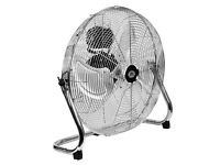 "Quality Prem-I-Air 18"" (45 cm) High Velocity Air Circulator with Chrome finish"