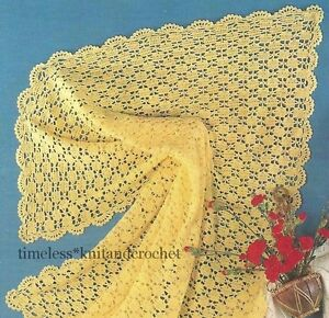 about VINTAGE CROCHET PATTERN FOR BABY / BABIES PRETTY SHAWL - 3 ply