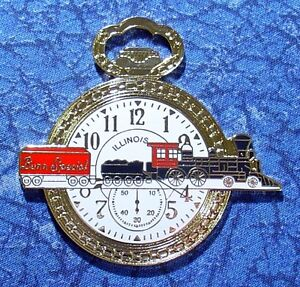 Illinois Bunn Special Railroad Train Watch Fob