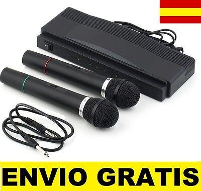 2X microfono inalambrico profesional con pilas karaoke  Receptor WIRELESS segunda mano  Málaga
