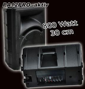 30cm AKTIV Lautsprecher 2-Wege Monitor-Box 800 Watt  DJ PARTY DISCO Aktionspreis