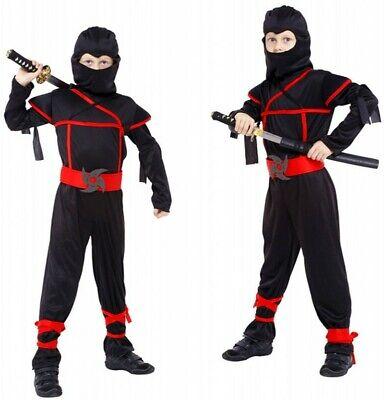 Kids Naruto Ninja Halloween Cosplay Costume Boys Martial Arts Costume Party