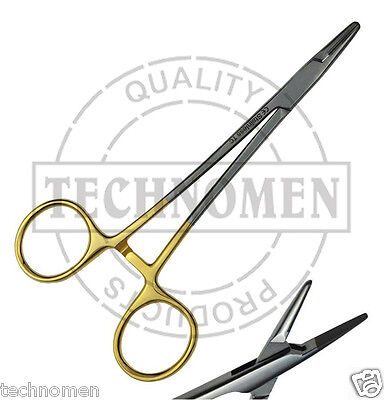 "10 T//C O.R GRADE OLSEN HEGAR NEEDLE HOLDER 4.5/""+5.5/"" W// TUNGSTEN CARBIDE INSERTS"