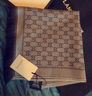 MENS/WOMENS GUCCI WOOL SCARF brown new with receipt