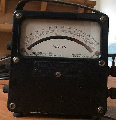 Weston Electrical Instruments wattS meter, 0-300w WATTMETER