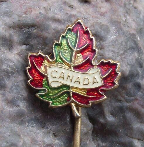 Canada Maple Leaf Fall Colors National Symbol Canadian Autumn Motif Pin Badge