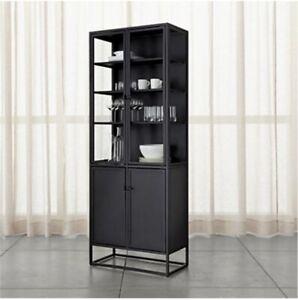 Crate & Barrel - Casement Black Tall Cabinet