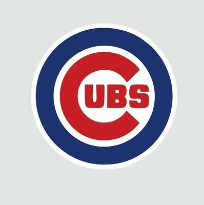 Chicago Cubs Mlb Baseball Full Color Logo Sports Decal Sticker Free Shipping