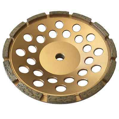 7 Concrete Grinding Cup Wheels 12 Diamond Abrasive Seg 58-11 Arbor Single Row