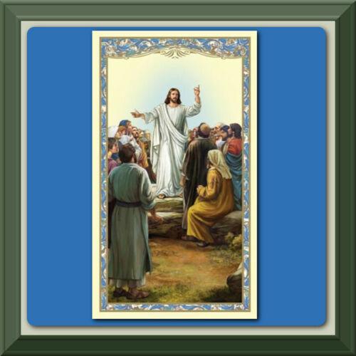 Catholic Holy Card PRAYER Jesus The BEATITUDES ✝️ We Do Combine Shipping ✝️