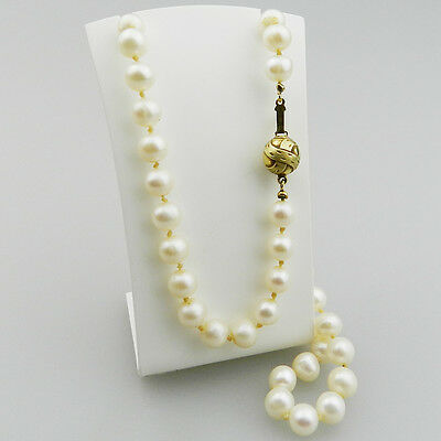 Sehr schöne 585er Gold Perlen Kette - Halskette - B943