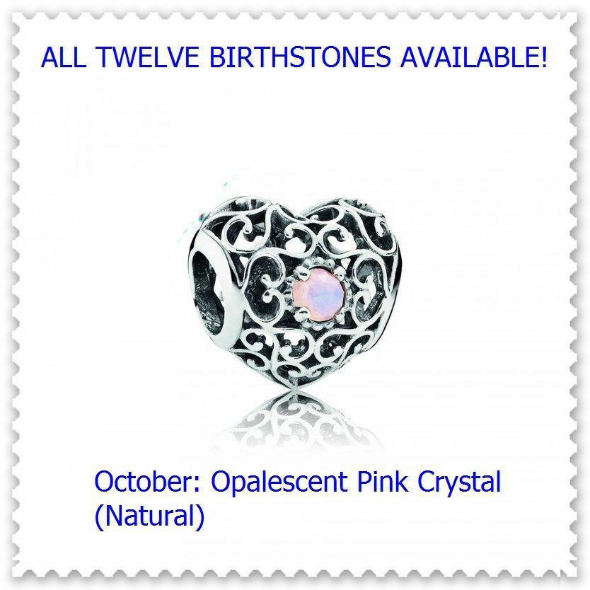 October Natural Opalescent Pink Crystal