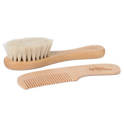 Green Sprouts Natural Wood (Green Sprouts Baby Wooden Brush and Comb Set, Natural )