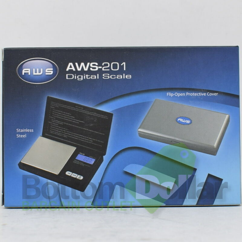 AWS Digital Personal Nutrition Scale Pocket Size AWS-201 With Back-Lit LCD