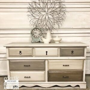 Refinished antique vintage furniture and decor