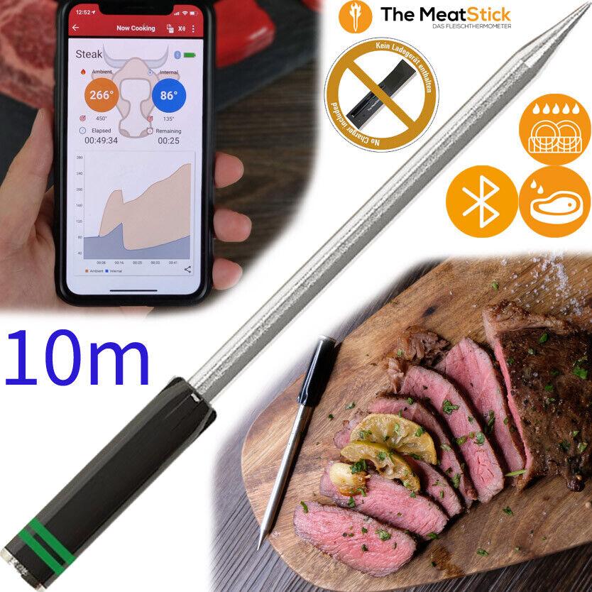 The MeatStick Grün SOLO Kabelloses Bluetooth Fleisch Grill BBQ Koch Thermometer