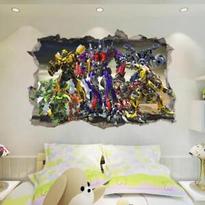 NEW Transformers Optimus Prime Bumblebee HUGE Wall Stickers Kids Home Decor