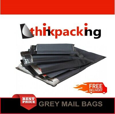 200x Grey Mailing Bags 9x12 Strong Post Mail Postage Poly Bag Postal Self Seal