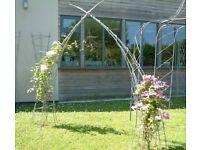 Galvanised steel sculptural garden arch