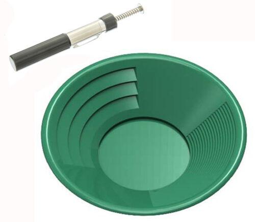2 Pc Black Sand Pocket Separator Magnet Pen Gold Pan Mining Panning Prospecting