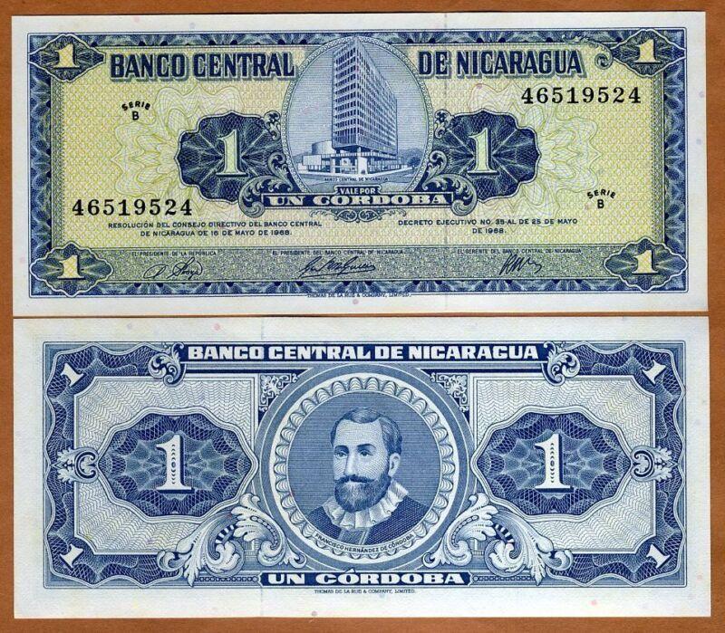Nicaragua, 1 cordoba, 1968, P-115 B-Serie, UNC